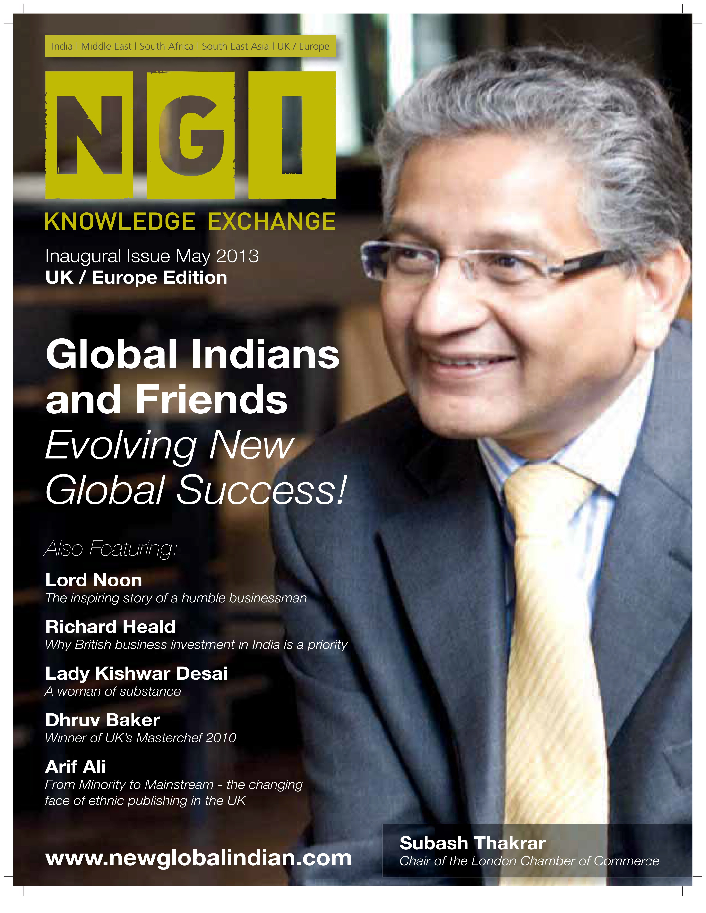 My interview in New Global Indian magazine on May ...