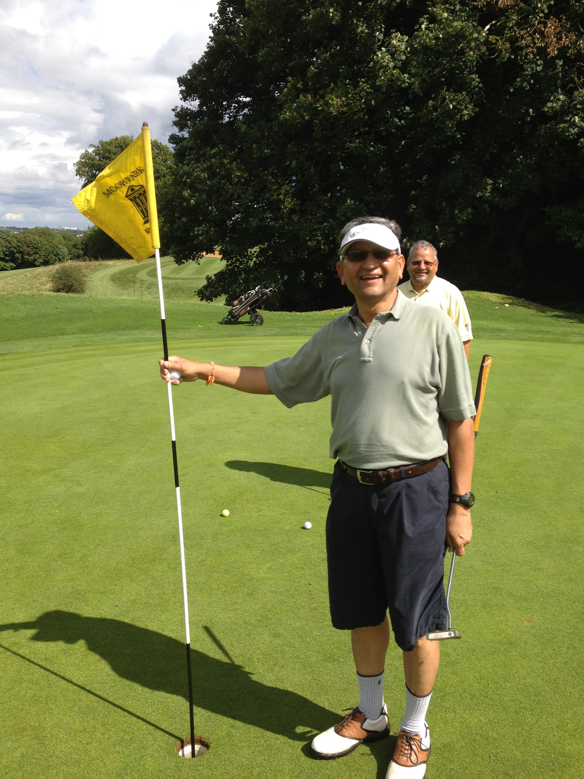 Playing Golf - Hole in one